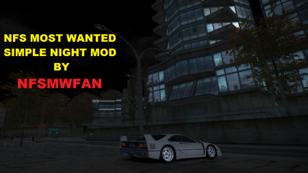 Simple night mod for NFSMW